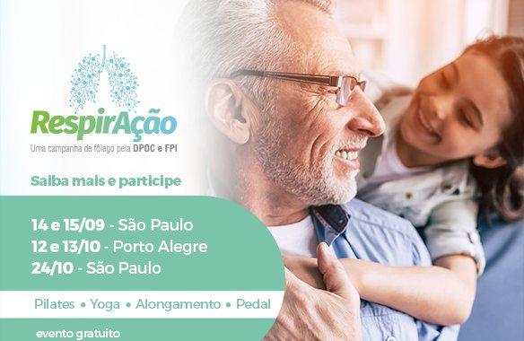 São Paulo e Porto Alegre doam ar para campanha que alerta para doenças respiratórias
